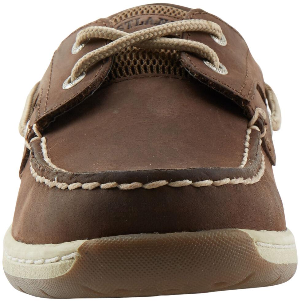Eastland Women's Bomber Brown Solstice Boat Shoe Oxfords , , hi-res