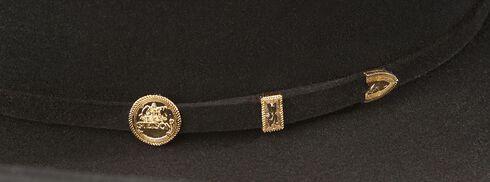 Stetson 100X El Presidente Fur Felt Western Hat, Black, hi-res