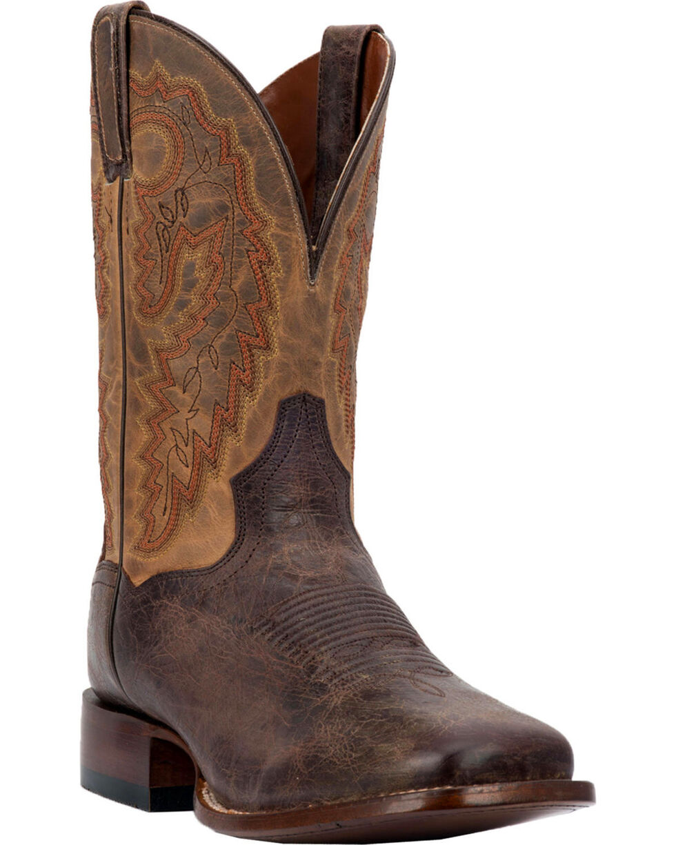 Dan Post Men's Turner Cowboy Boots - Square Toe, Chocolate, hi-res