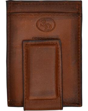 3D Basic Brown Money Clip Wallet, Brown, hi-res