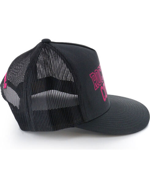 Rock & Roll Cowgirl Logo Snap Back Ball Cap, Black, hi-res