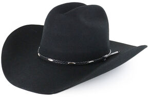 Cody James Casino Black 3X Wool Felt Cowboy Hat 1e4a612a43f3