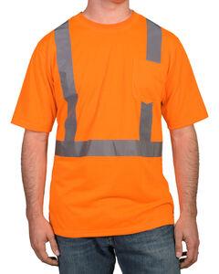 American Worker Men's Short Sleeve High Visibility T-Shirt - Big & Tall, Orange, hi-res