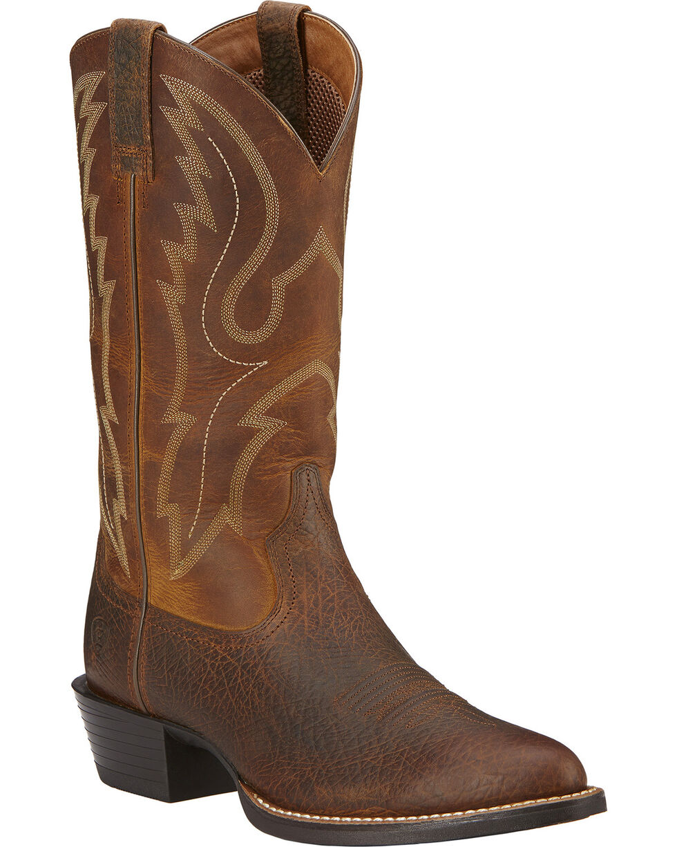 Ariat Sport Western Cowboy Boots - Medium Toe, Earth, hi-res