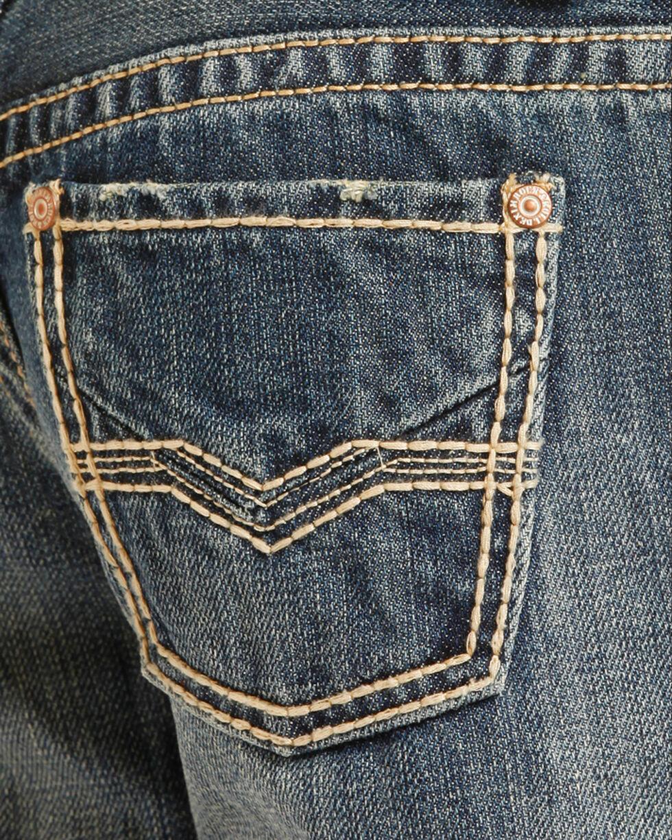 Rock & Roll Cowboy Boys' (7-20) Stitched Jeans - Boot Cut, Indigo, hi-res