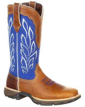 Durango Women's Lady Rebel Western Boots - Square Toe, Multi, hi-res