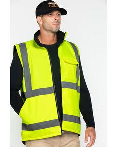 Hawx® Men's Reversible Reflective Work Vest, Yellow, hi-res