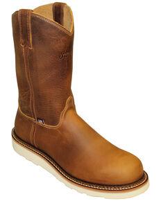 Silverado Men's Shipyard Western Work Boots - Soft Toe, Tan, hi-res