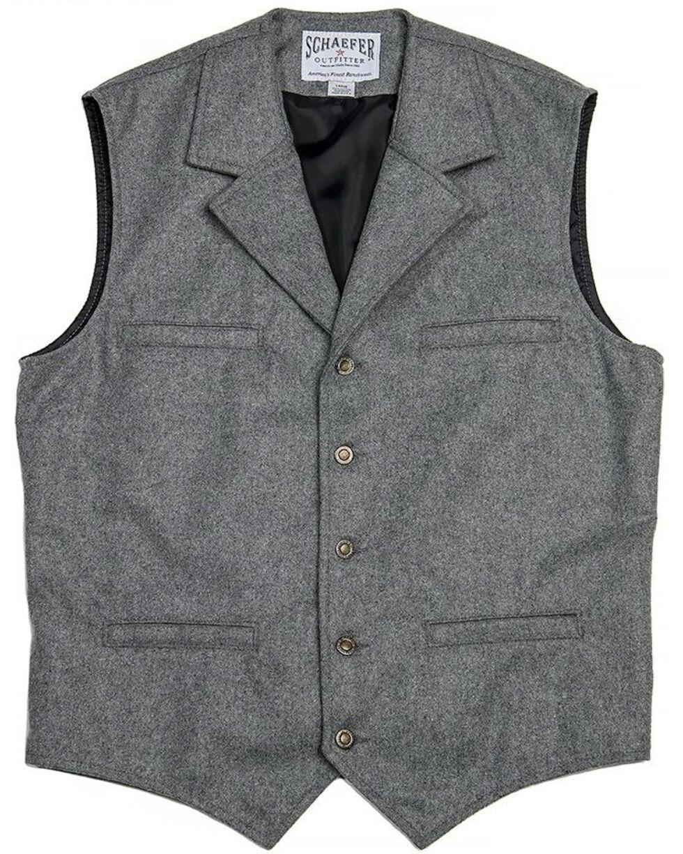 Schaefer Outfitter Men's 704 McCoy Wool Vest - XLT, Heather Grey, hi-res