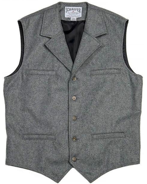 Schaefer Outfitter Men's 704 McCoy Wool Vest - 2XLT / 3XL, Heather Grey, hi-res