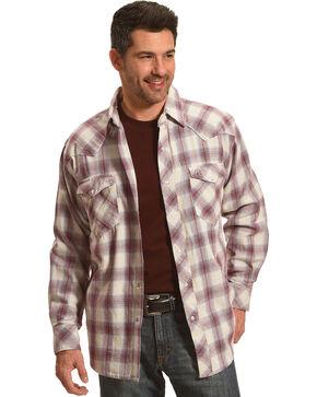 Resistol Men's Tan Higgston Plaid Western Shirt , Light Blue, hi-res