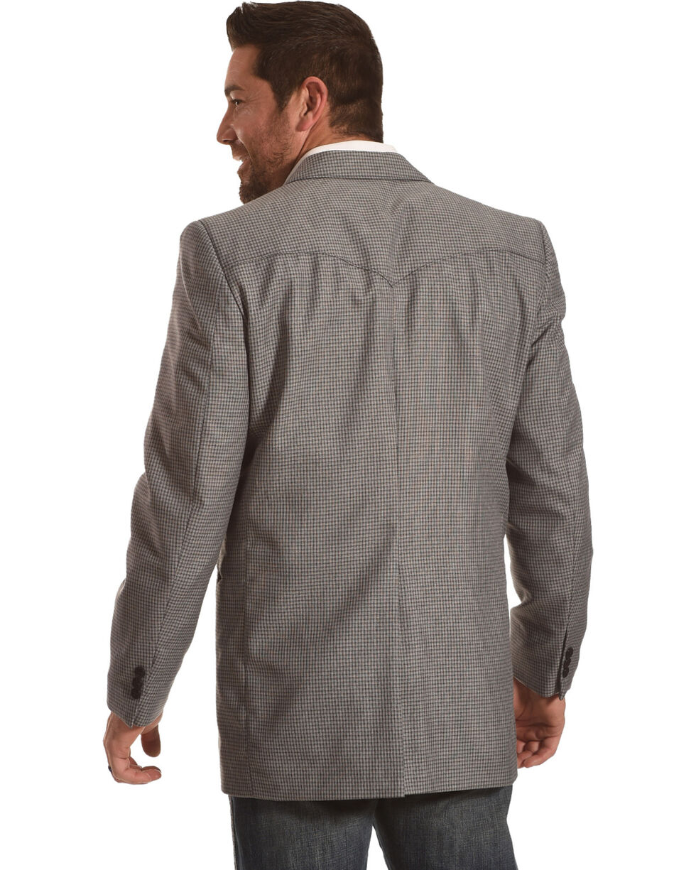 Circle S Men's Carson City Graphite Sport Coat - Big & Tall, Grey, hi-res