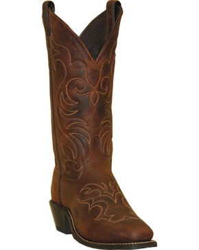 Abilene Boots Women's Embroidered Western Boots - Square Toe, Brown, hi-res