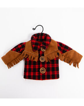 BB Ranch Plaid Cowboy Shirt Ornament, Red, hi-res