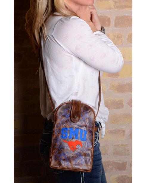 Gameday Boots Southern Methodist University Crossbody Bag, Brass, hi-res