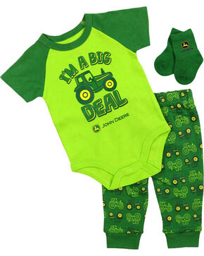 John Deere Infant Boys' Green I'm A Big Deal 3 Piece Set , Green, hi-res