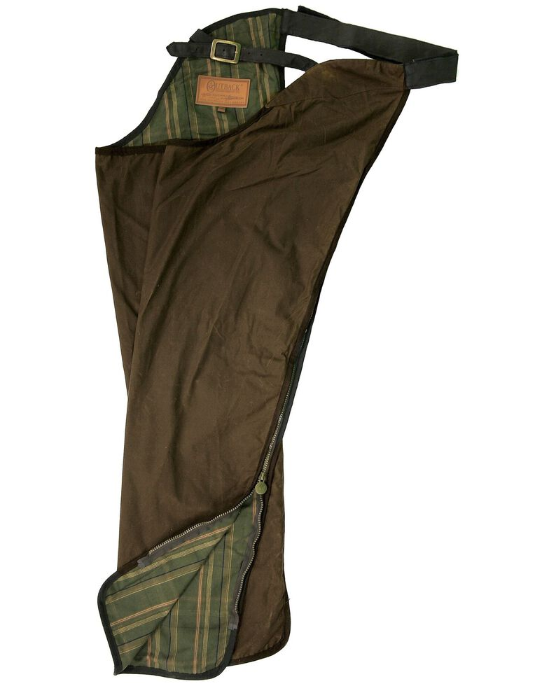 Outback Trading Co. Oilskin Cotton Chaps, Bronze, hi-res