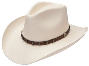 Stetson 8X Cyprus Straw Cowboy Hat, Natural, hi-res