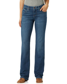 Wrangler Women's Q-Baby Nicole Bootcut Riding Jeans, Blue, hi-res