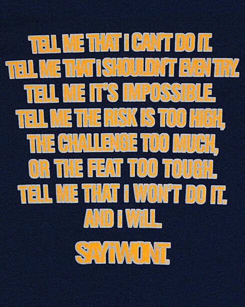 Say I Won't Boys' Logo T-Shirt, Navy, hi-res