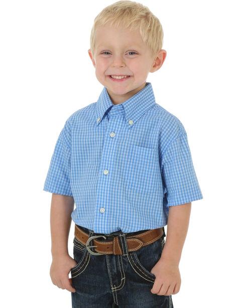 Wrangler Boys' Assorted Check Printed Short Sleeve Shirt , Multi, hi-res