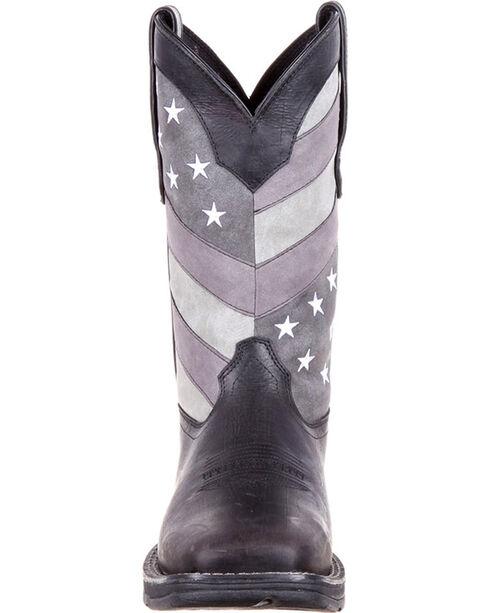 Durango Men's Black Rebel Faded Flag Boots - Square Toe , Black, hi-res