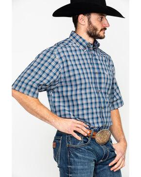 Ariat Men's Harold Plaid Short Sleeve Western Shirt , Blue, hi-res
