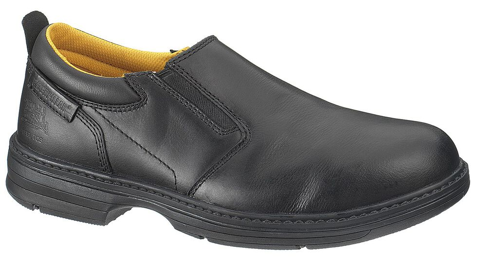Caterpillar Conclude Slip-On Work Shoes - Steel Toe, Black, hi-res