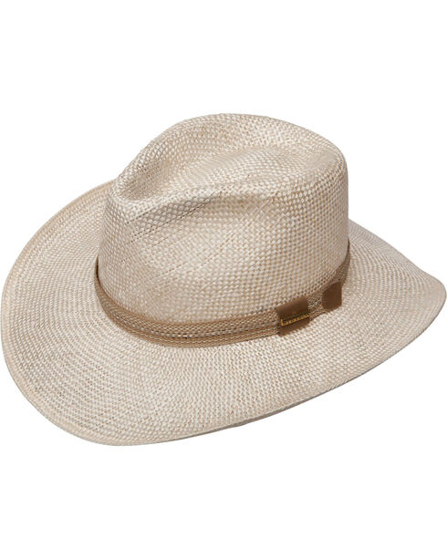 Stetson Men's Natural Benton Straw Hat , Natural, hi-res
