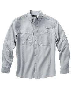 Dri Duck Men's Catch Long Sleeve Woven Work Shirt - Big & Tall , Grey, hi-res