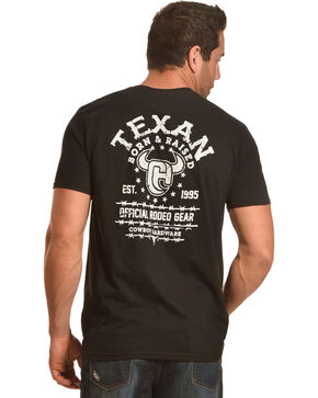 Cowboy Hardware Men's Black Texas Born & Raised Tee , Black, hi-res