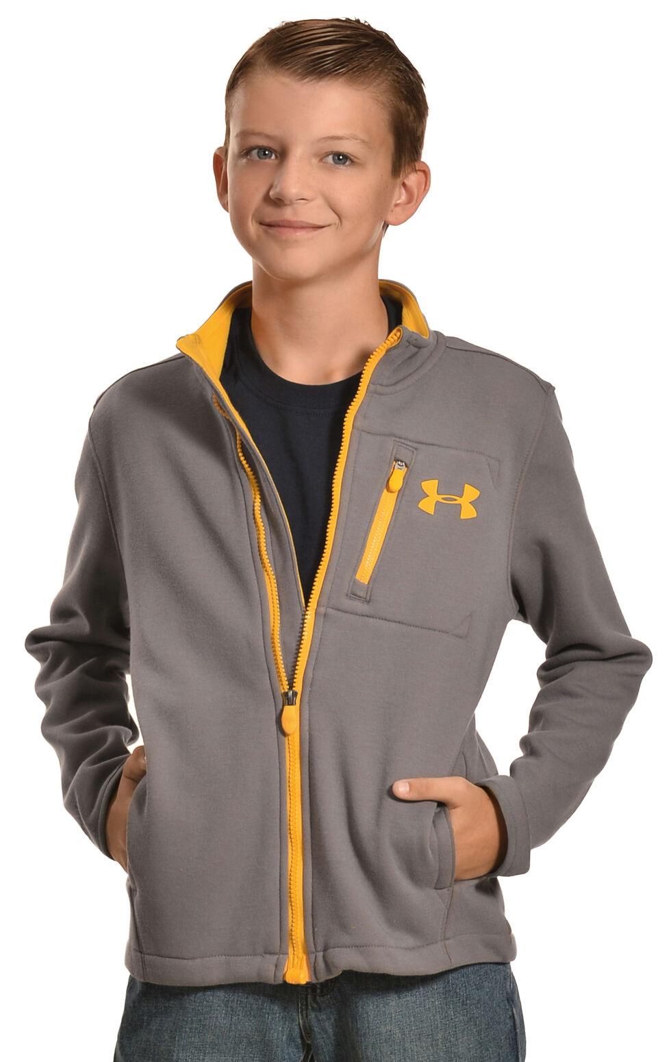 Under Armour Kids' Grantie Jacket, Grey, hi-res