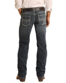 Rock & Roll Denim Men's Pistol Stretch Classic Bootcut Jeans , Blue, hi-res