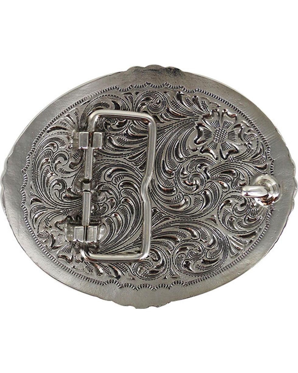 Cody James Men's Filigree Cross Belt Buckle, Silver, hi-res