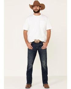 Wrangler Retro Men's Barton Springs Stretch Relaxed Bootcut Jeans , Blue, hi-res