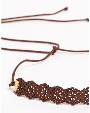 Shyanne Women's Wraparound Lasercut Bracelet , Brown, hi-res