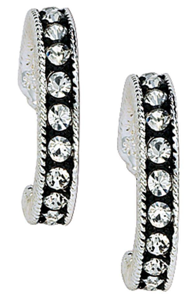 Montana Silversmiths Cubic Zirconia Hoop Earrings, Silver, hi-res