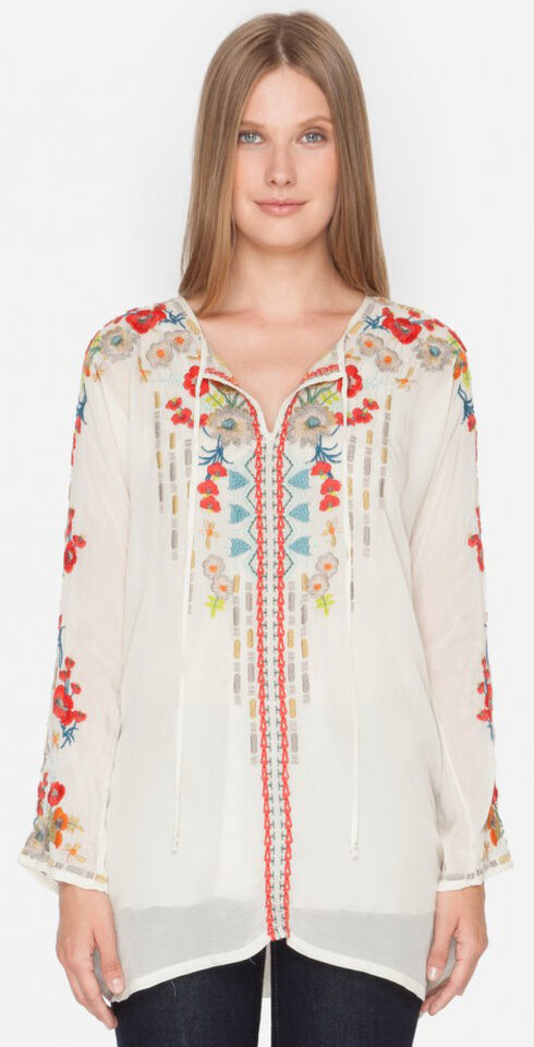Johnny Was Women's Shell Emily Tunic , Ivory, hi-res