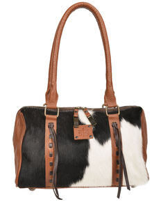 STS Ranchwear Women's Cowhide Satchel, Brown, hi-res