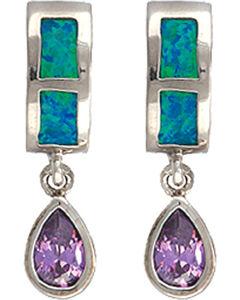 Montana Silversmiths River Lights Purple Tears Earrings, Multi, hi-res