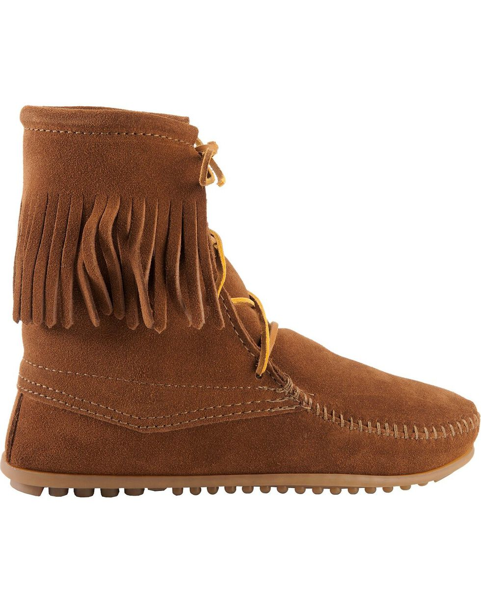 Minnetonka Tramper Moccasin Boots, Brown, hi-res