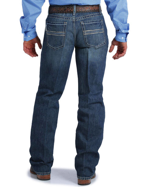 Cinch Men's Grant Medium Stonewash Relaxed Jeans - Boot Cut, Indigo, hi-res