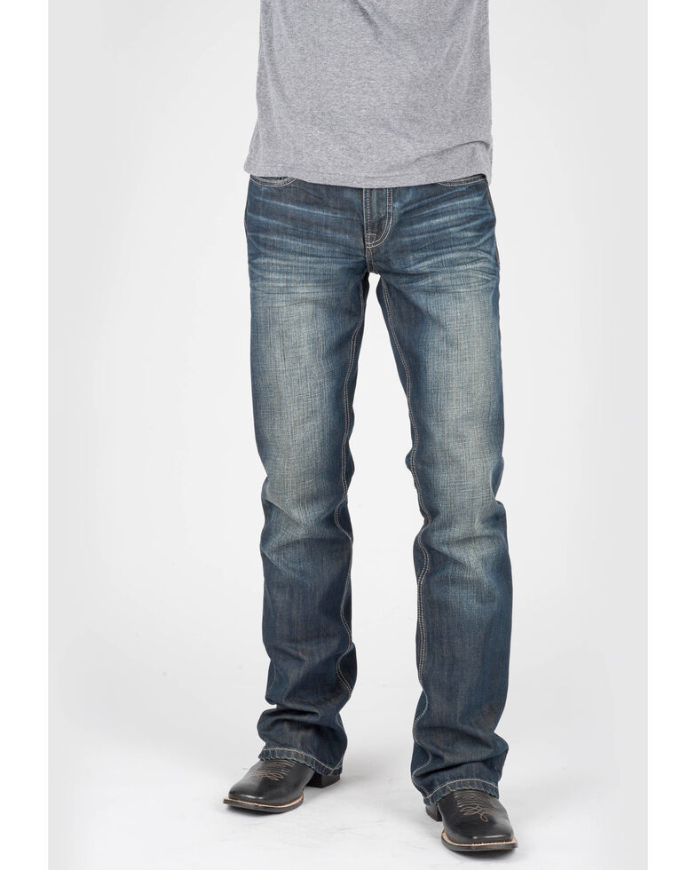 Tin Haul Men's Jagger Fit Corded Bootcut Jeans, Indigo, hi-res
