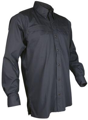 Tru-Spec Men's Grey Pinnacle Long Sleeve Shirt , Grey, hi-res