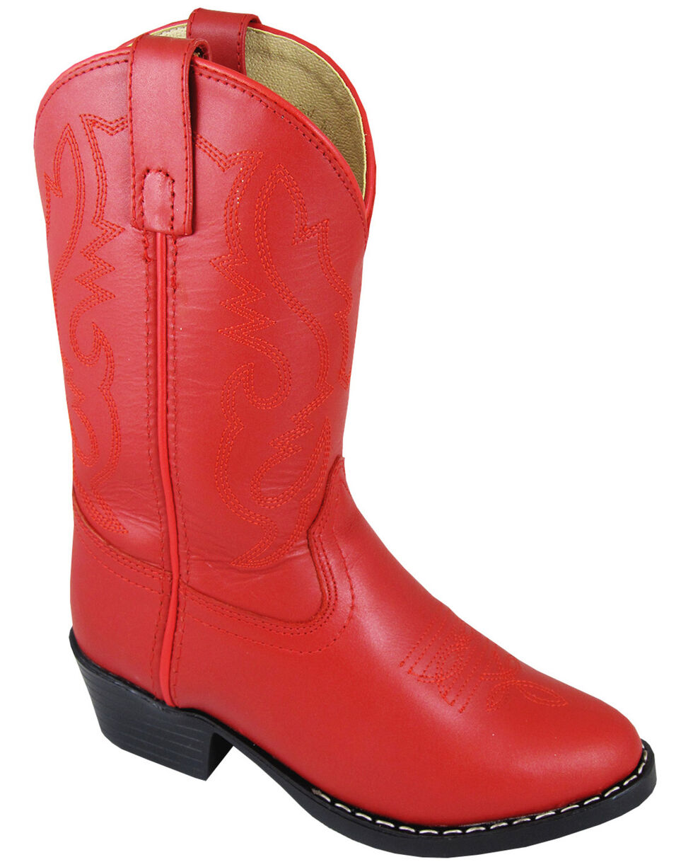 Smoky Mountain Girls' Denver Western Boots - Round Toe, Red, hi-res