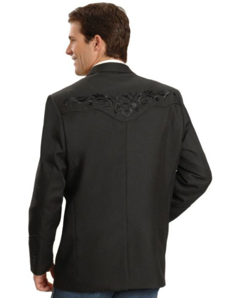 Scully Black Floral Embroidered Western Jacket - Big & Tall, Black, hi-res
