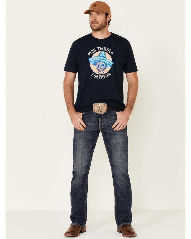 Moonshine Spirit Men's Mas Tequila Graphic Short Sleeve T-Shirt , Navy, hi-res