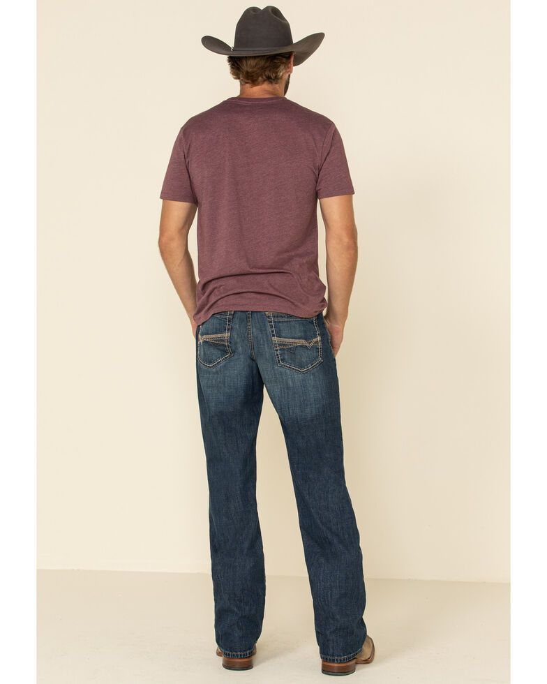 Cinch Men's Grant Performance Medium Relaxed Bootcut Jeans , Indigo, hi-res