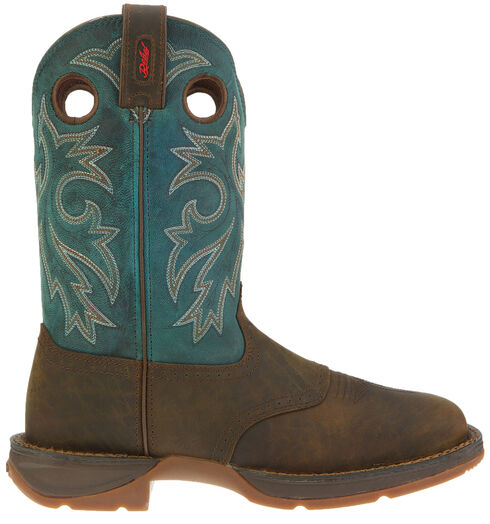 Durango Rebel Pull On Western Boots - Square Toe, Tan, hi-res