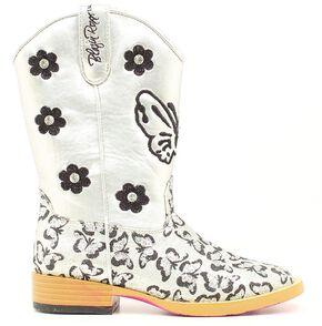Blazin Roxx Girls' Pecos Glitter Cowgirl Boots - Square Toe, Silver, hi-res